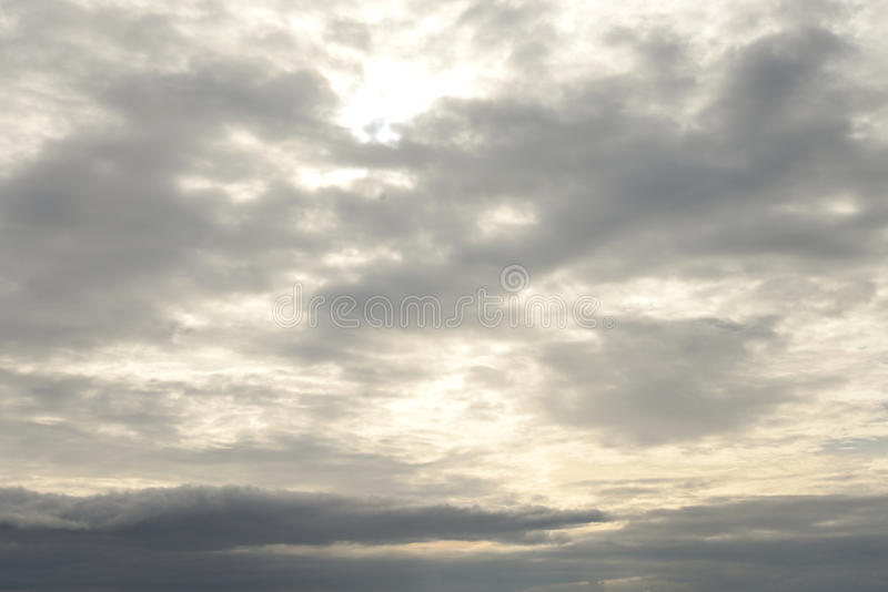 Cielo della nuvola al tramonto immagini stock