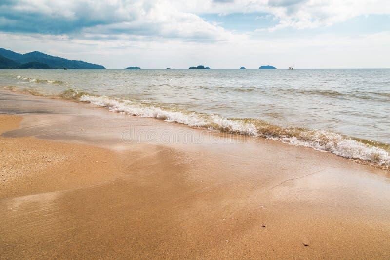 Cielo della spiaggia di sabbia fotografia stock