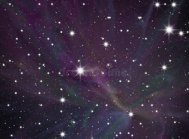 Cielo della stella di notte illustrazione vettoriale