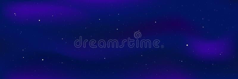 Cielo della stella di notte royalty illustrazione gratis