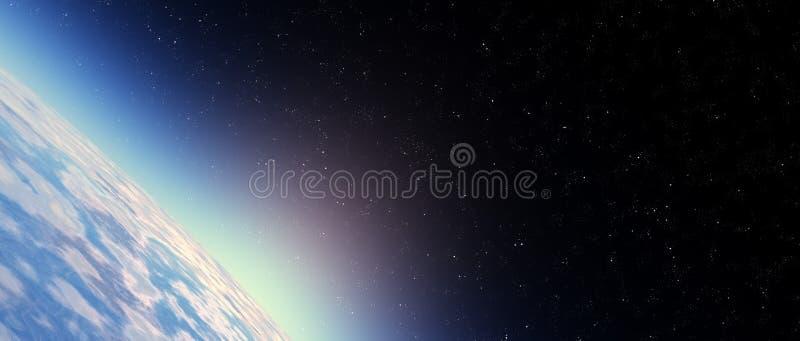 Cielo della stratosfera illustrazione di stock