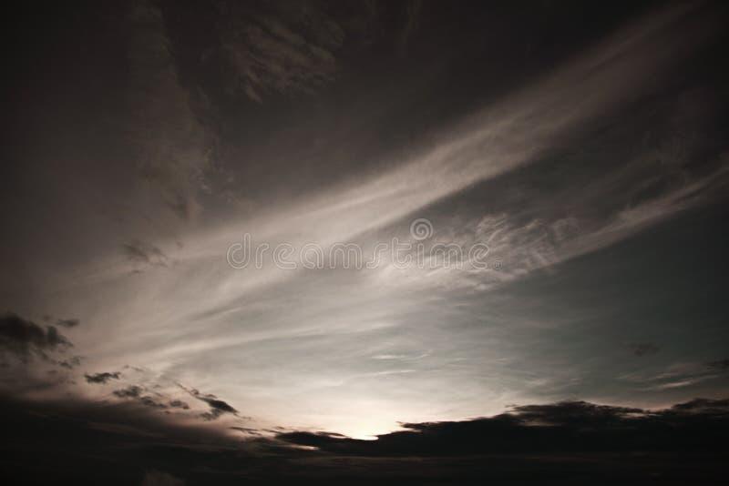 Cielo di alba immagine stock