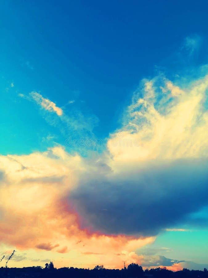 Cielo di Blueness del Sudafrica immagine stock libera da diritti