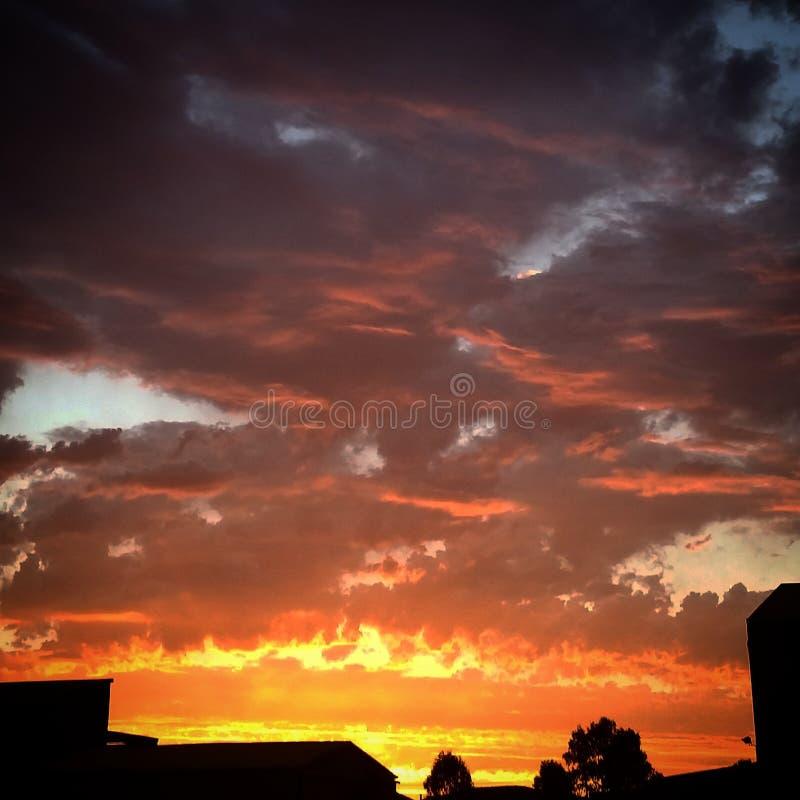 Cielo di Firey fotografia stock