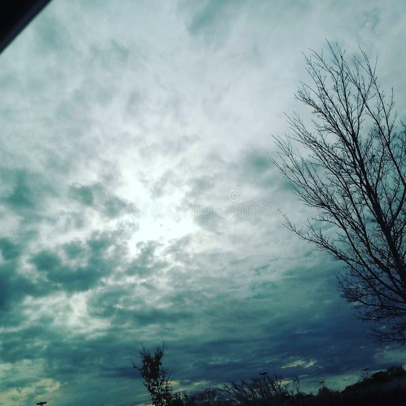 Cielo di mezza mattina fotografia stock