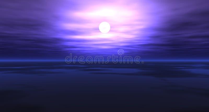 Cielo di sera illustrazione vettoriale