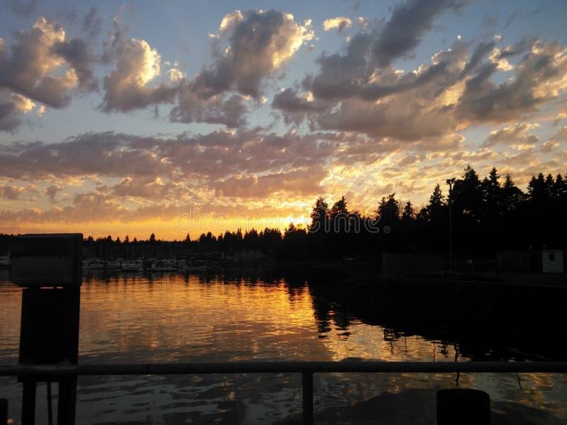 Cielo di sera in Washington State fotografia stock libera da diritti