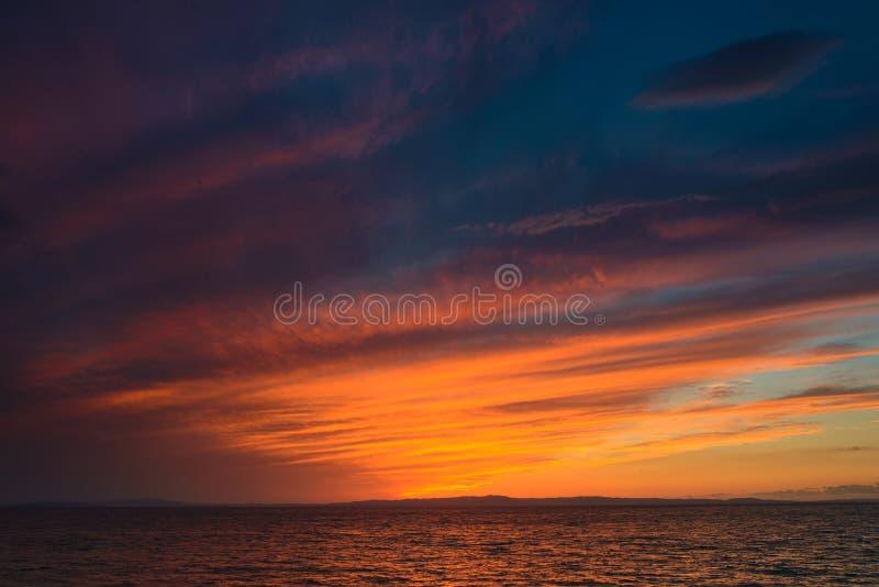 Cielo dramático después de la puesta del sol fotos de archivo libres de regalías