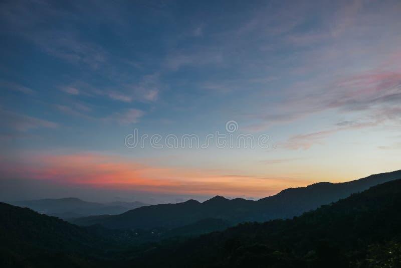 Cielo durante salida del sol foto de archivo libre de regalías