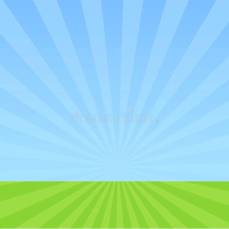 Cielo e hierba libre illustration