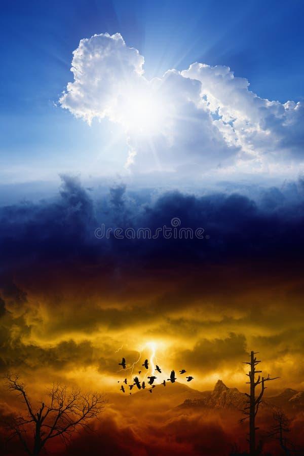 Cielo e inferno fotografia stock
