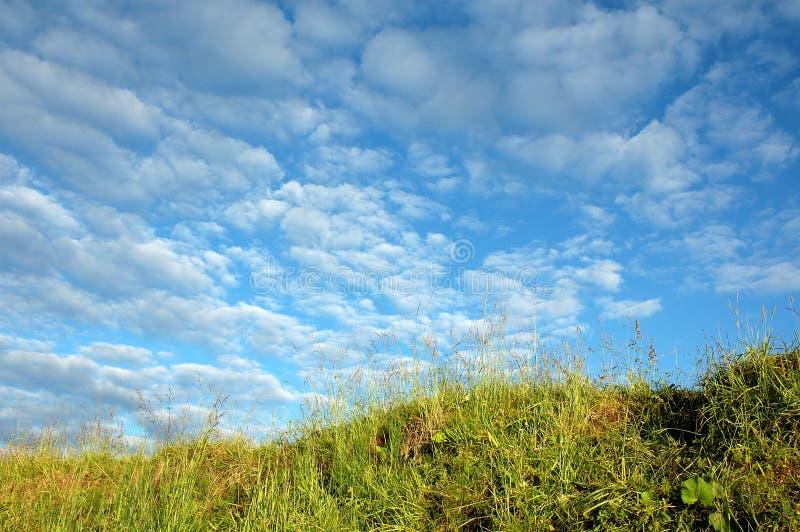 Cielo ed azzurro fotografie stock