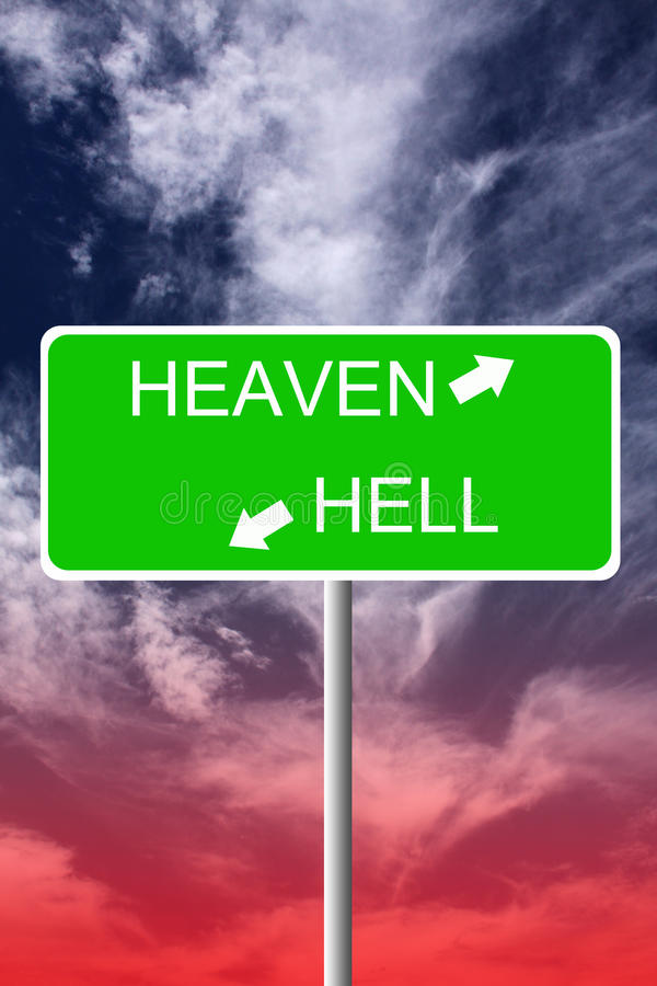 Cielo ed inferno royalty illustrazione gratis