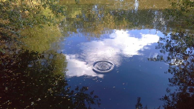 Cielo en el río fotos de archivo