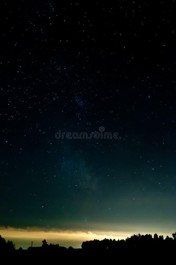 Cielo estrellado fotografía de archivo libre de regalías