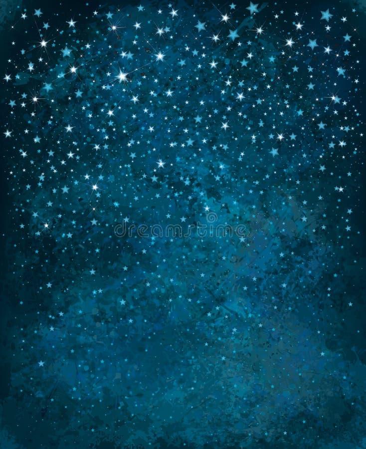 Cielo estrellado de la noche del vector ilustración del vector