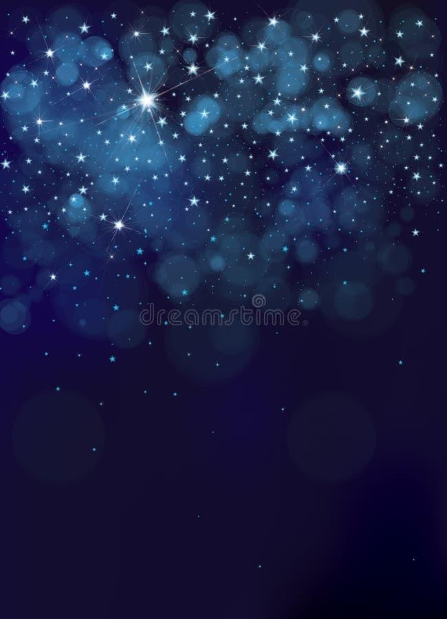 Cielo estrellado de la noche del vector stock de ilustración
