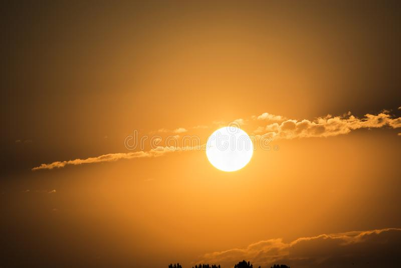 Cielo fresco de la mañana imágenes de archivo libres de regalías