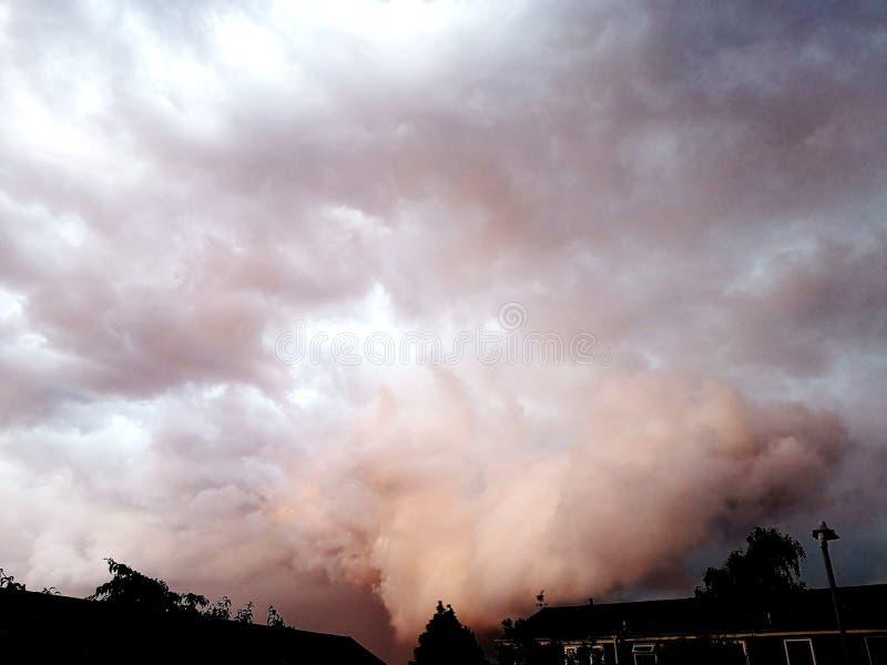 cielo giorno nuvoloso fotografia stock