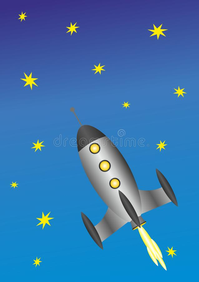 Cielo, giorno, viaggio æreo, Rocket immagini stock