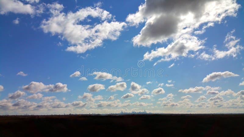 Cielo grande de Chicago con las nubes imagen de archivo libre de regalías