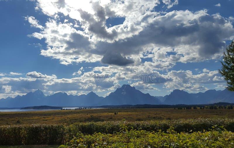 Cielo grande de Wyoming imagen de archivo