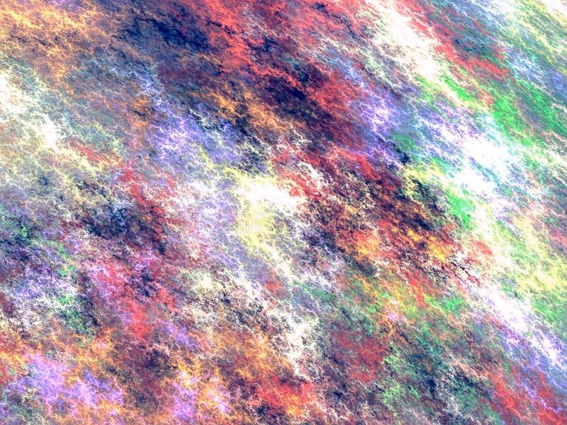 Cielo irreale astratto - immagine digitalmente generata illustrazione vettoriale