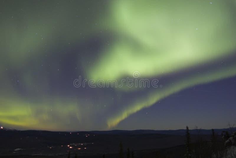 Cielo llenado de la luz norteña imagen de archivo