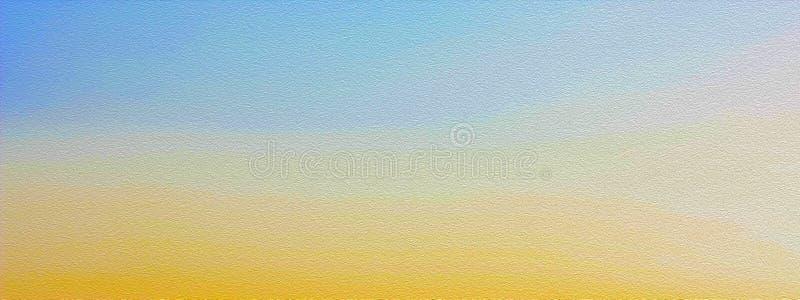 Cielo nei toni dorati, fondo di alba nei colori blu e gialli, pittura stilizzata fotografia stock
