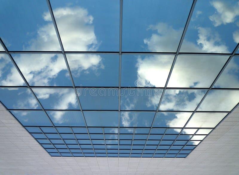 Cielo nel vetro fotografie stock