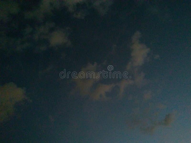 Cielo nella notte immagine stock