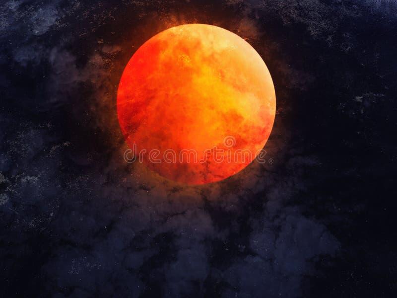 Cielo nocturno abstracto con la Luna Llena para el fondo de Halloween imágenes de archivo libres de regalías
