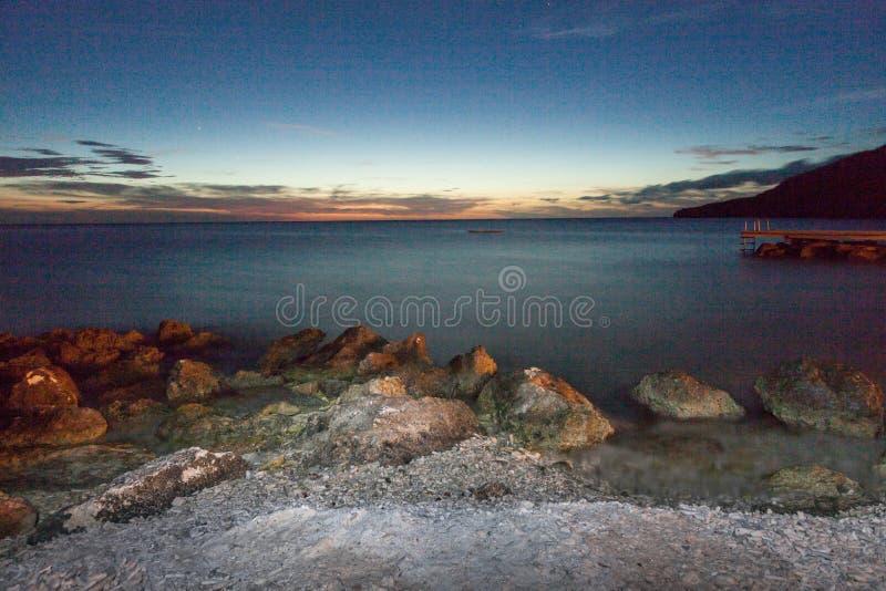 Cielo nocturno alrededor de PortoMari fotos de archivo libres de regalías
