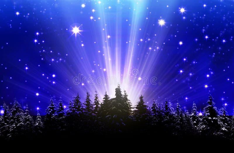 Cielo nocturno azul profundo llenado de las estrellas foto de archivo libre de regalías