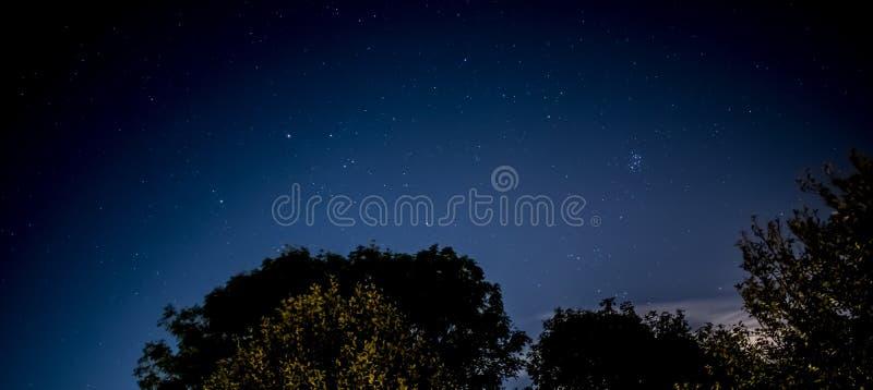 Cielo nocturno con resplandor de la ciudad fotografía de archivo libre de regalías