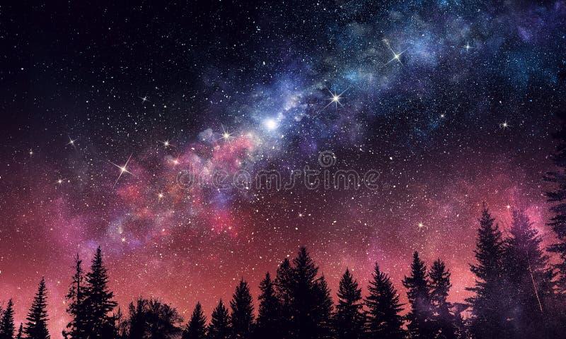 Cielo nocturno del claro de Stary Técnicas mixtas fotografía de archivo libre de regalías