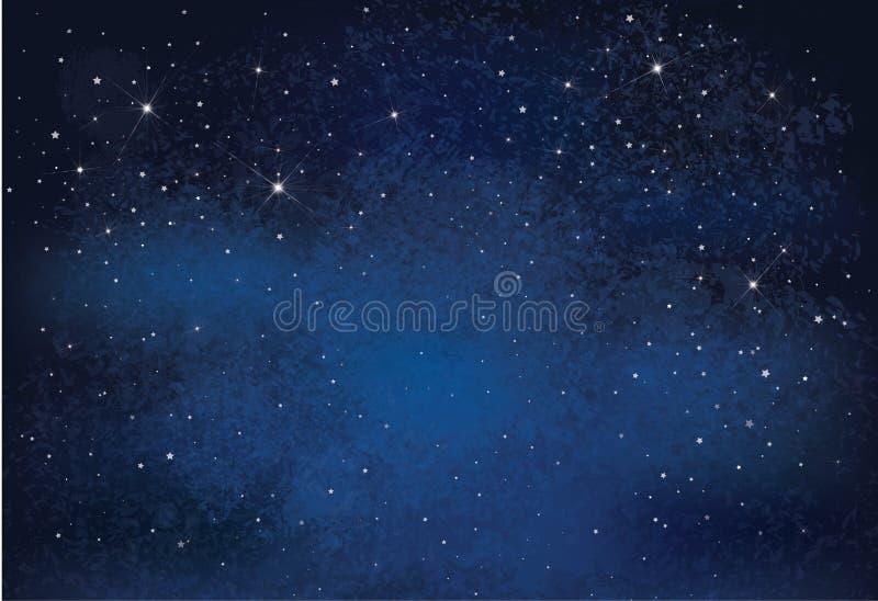 Cielo nocturno del vector stock de ilustración