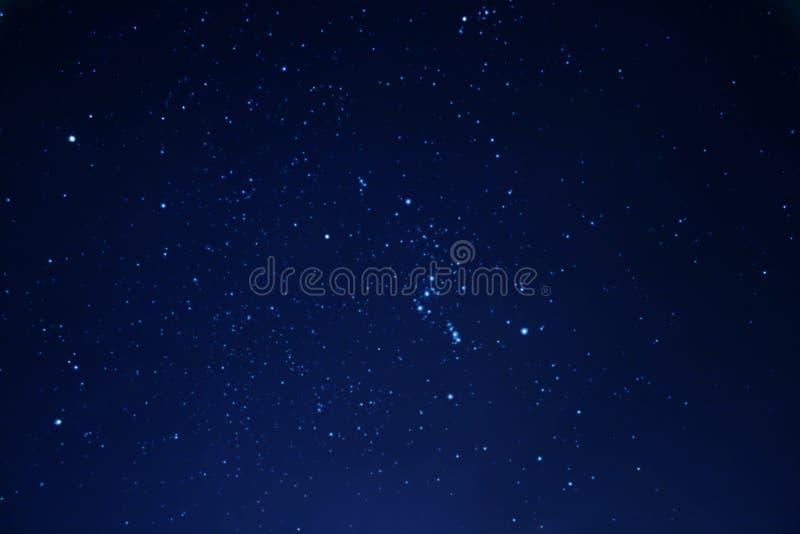 Cielo nocturno en invierno foto de archivo libre de regalías