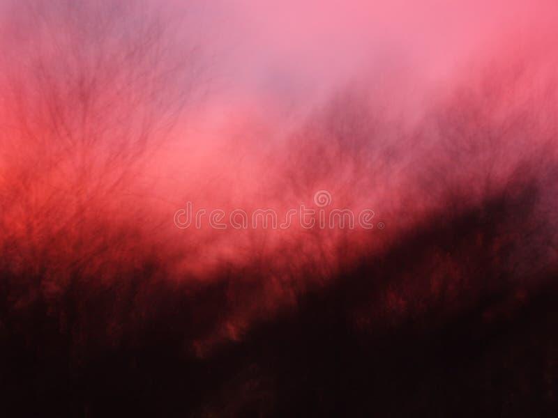 Cielo nocturno en la puesta del sol imagen de archivo libre de regalías