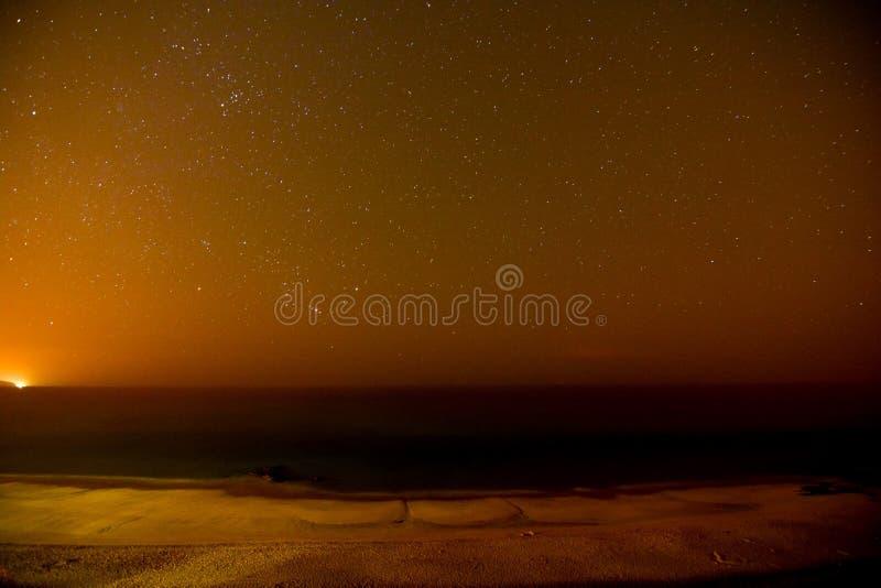 Cielo nocturno estrellado fotografía de archivo