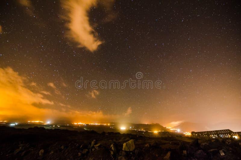 Cielo nocturno estrellado imagen de archivo libre de regalías