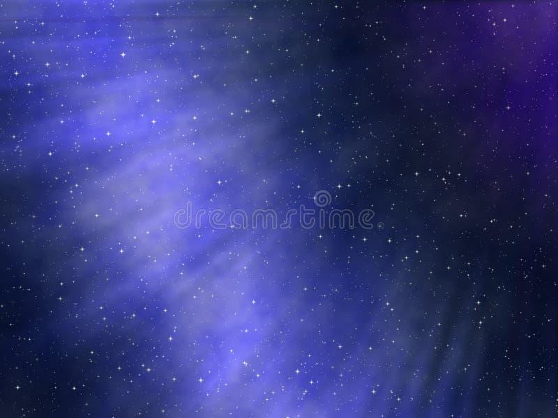 Cielo nocturno estrellado stock de ilustración