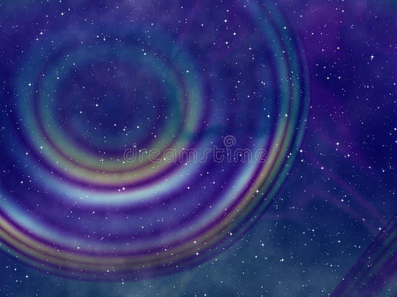 Cielo nocturno estrellado abstracto stock de ilustración