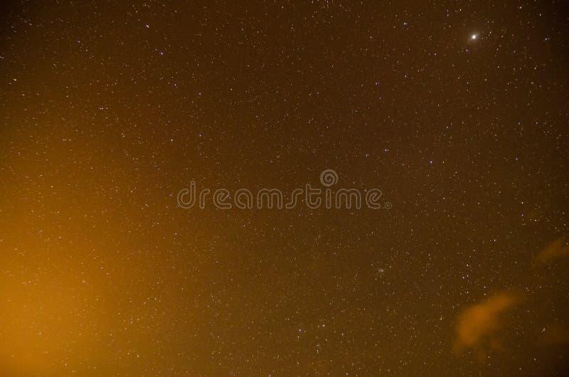 Cielo nocturno estrellado imágenes de archivo libres de regalías