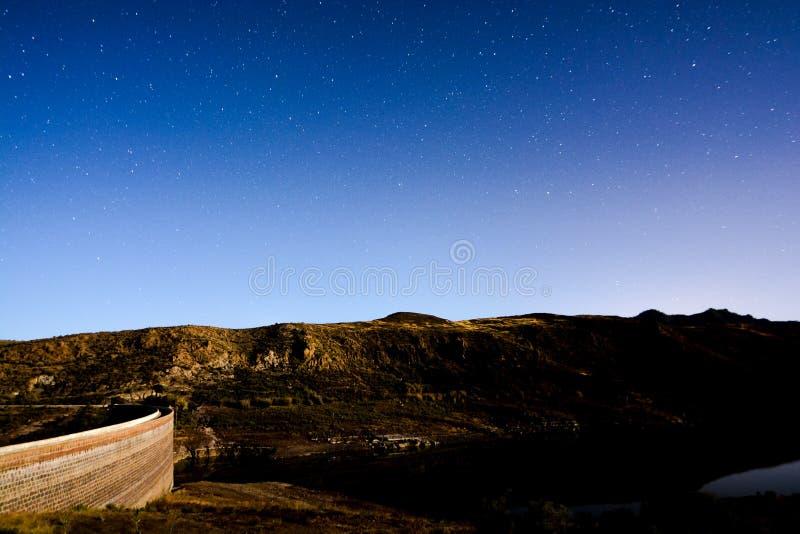 Cielo nocturno estrellado foto de archivo