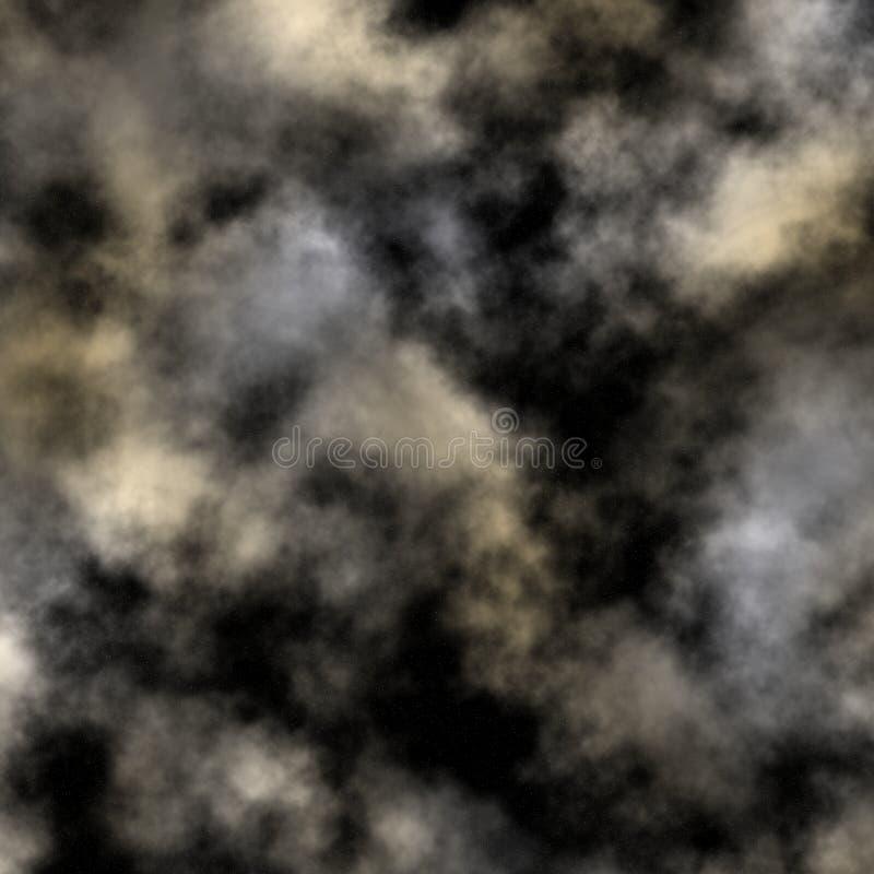 Cielo nocturno nublado fotos de archivo