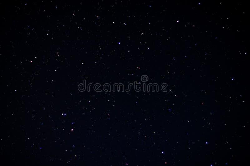 Cielo nocturno real con las estrellas imagen de archivo libre de regalías