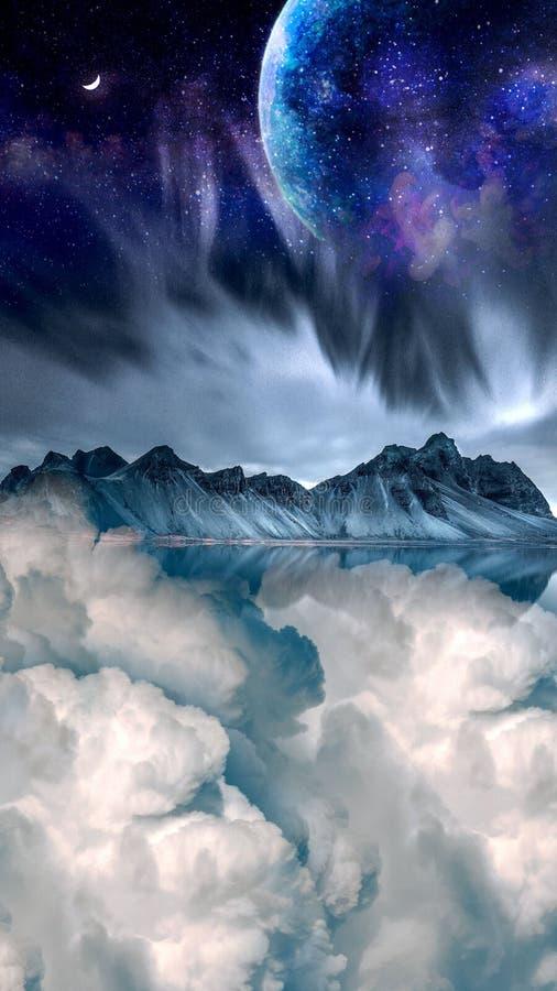Cielo notturno illustrazione vettoriale