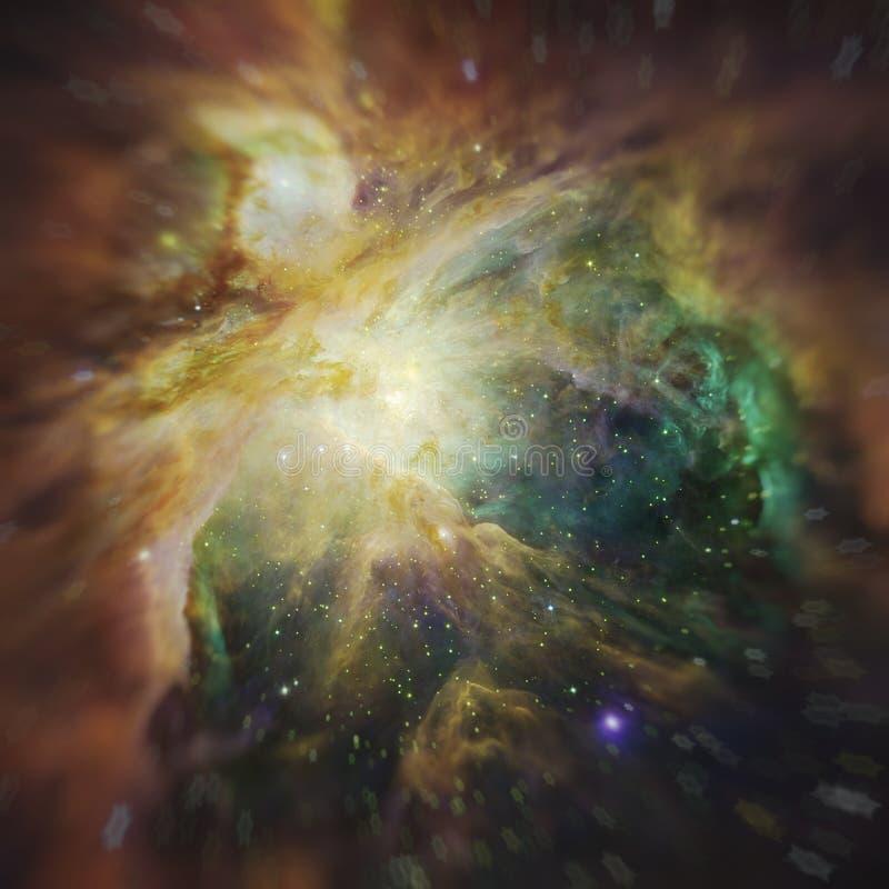 Cielo notturno con il fondo della nebulosa delle stelle delle nuvole Elementi dell'immagine ammobiliati dalla NASA illustrazione vettoriale