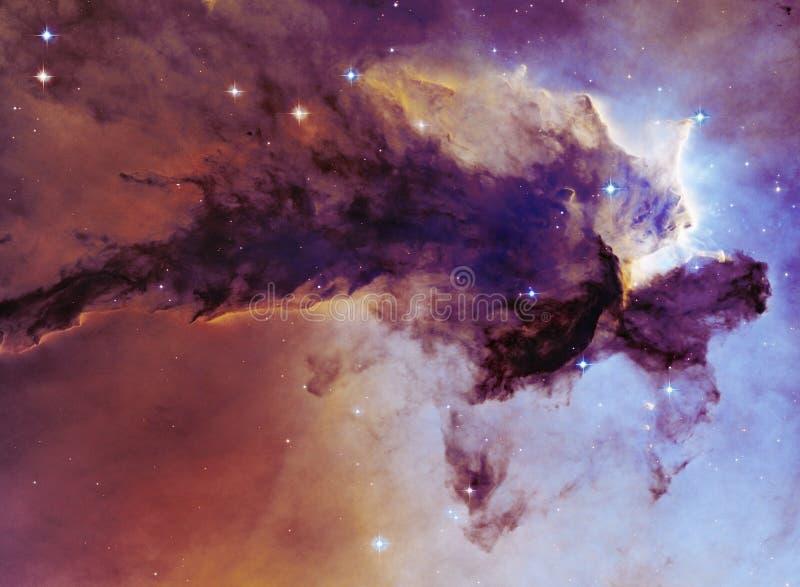 Cielo notturno con il fondo della nebulosa delle stelle delle nuvole Elementi dell'immagine ammobiliati dalla NASA royalty illustrazione gratis